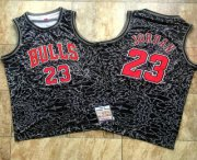 Wholesale Cheap Men's Chicago Bulls #23 Michael Jordan 1996-97 Black Split Hardwood Classics Soul AU Throwback Jersey