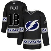 Cheap Adidas Lightning #18 Ondrej Palat Black Authentic Team Logo Fashion Stitched NHL Jersey