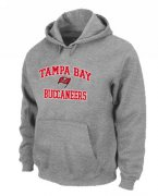 Wholesale Cheap Tampa Bay Buccaneers Heart & Soul Pullover Hoodie Grey