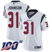 Wholesale Cheap Nike Texans #31 David Johnson White Youth Stitched NFL 100th Season Vapor Untouchable Limited Jersey