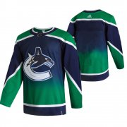 Wholesale Cheap Vancouver Canucks Blank Green Men's Adidas 2020-21 Reverse Retro Alternate NHL Jersey