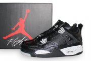 Wholesale Cheap Air Jordan 4 Oreo Shoes Oreo Black/gray
