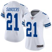 Wholesale Cheap Nike Cowboys #21 Deion Sanders White Women's Stitched NFL Vapor Untouchable Limited Jersey