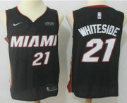 Wholesale Cheap Men's Miami Heat #21 Hassan Whiteside Black 2017-2018 Nike Swingman Ultimate Software Stitched NBA Jersey