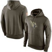 Wholesale Cheap Men's Arizona Cardinals Nike Olive Salute To Service KO Performance Hoodie