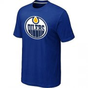 Wholesale Cheap NHL Edmonton Oilers Big & Tall Logo T-Shirt Blue