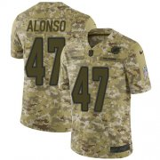 Wholesale Cheap Nike Dolphins #47 Kiko Alonso Camo Men's Stitched NFL Limited 2018 Salute To Service Jersey