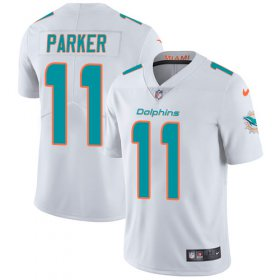 Wholesale Cheap Nike Dolphins #11 DeVante Parker White Men\'s Stitched NFL Vapor Untouchable Limited Jersey