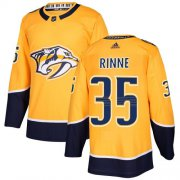 Wholesale Cheap Adidas Predators #35 Pekka Rinne Yellow Home Authentic Stitched Youth NHL Jersey