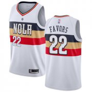 Wholesale Cheap Pelicans #22 Derrick Favors White Basketball Swingman Earned Edition Jersey