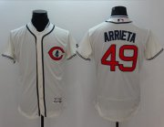 Wholesale Cubs #49 Jake Arrieta Cream Flexbase Authentic Collection 1929 Turn Back The Clock Stitched Baseball Jersey