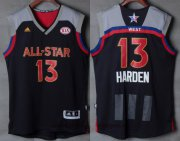 Wholesale Cheap Men's Western Conference Houston Rockets #13 James Harden adidas Black Charcoal 2017 NBA All-Star Game Swingman Jersey