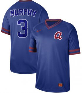 Wholesale Cheap Nike Braves #3 Dale Murphy Royal Authentic Cooperstown Collection Stitched MLB Jersey