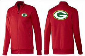 Wholesale Cheap NFL Green Bay Packers Team Logo Jacket Red