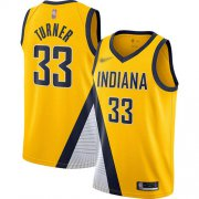 Wholesale Cheap Pacers #33 Myles Turner Gold Basketball Swingman Statement Edition 2019-2020 Jersey