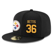 Wholesale Cheap Pittsburgh Steelers #36 Jerome Bettis Snapback Cap NFL Player Black with Gold Number Stitched Hat