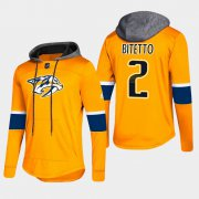 Wholesale Cheap Predators #2 Anthony Bitetto Gold 2018 Pullover Platinum Hoodie