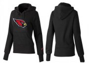 Wholesale Cheap Women's Arizona Cardinals Logo Pullover Hoodie Black