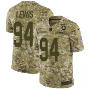 Wholesale Cheap Nike Colts #94 Tyquan Lewis Camo Men's Stitched NFL Limited 2018 Salute To Service Jersey