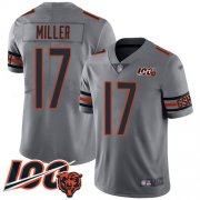 Wholesale Cheap Nike Bears #17 Anthony Miller Silver Men's Stitched NFL Limited Inverted Legend 100th Season Jersey