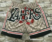 Wholesale Cheap Men's Los Angeles Lakers Black Mamba Commemorative Hardwood Classics Soul Swingman Throwback Shorts