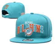 Wholesale Cheap Dolphins Team Logo Aqua 1966 Anniversary Adjustable Hat YD
