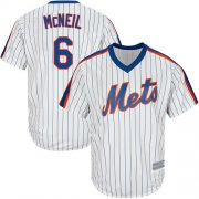 Wholesale Cheap Mets #6 Jeff McNeil White(Blue Strip) Alternate Cool Base Stitched Youth MLB Jersey