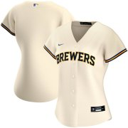 Wholesale Cheap Milwaukee Brewers Nike Women's Home 2020 MLB Team Jersey Cream