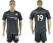 Wholesale Cheap Chelsea #19 Diego Costa Black Soccer Club Jersey