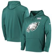 Wholesale Cheap Philadelphia Eagles Nike 100th Season Primary Logo Circuit Performance Pullover Hoodie Midnight Green