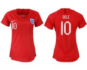 Wholesale Cheap Women's England #10 Dele Away Soccer Country Jersey