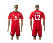 Wholesale Cheap Lyon #12 Thomis Away Soccer Club Jersey