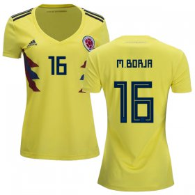 Wholesale Cheap Women\'s Colombia #16 M.Borja Home Soccer Country Jersey