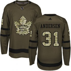 Wholesale Cheap Adidas Maple Leafs #31 Frederik Andersen Green Salute to Service Stitched NHL Jersey