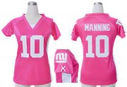 Wholesale Cheap Nike Giants #10 Eli Manning Pink Draft Him Name & Number Top Women's Stitched NFL Elite Jersey