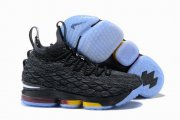 Wholesale Cheap Nike Lebron James 15 Air Cushion Shoes Charcoal Grey White