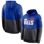 Wholesale Cheap Buffalo Bills Nike Sideline Impact Lockup Performance Pullover Hoodie Royal Charcoal