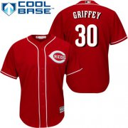 Wholesale Cheap Reds #30 Ken Griffey Red Cool Base Stitched Youth MLB Jersey