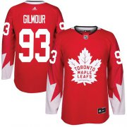 Wholesale Cheap Adidas Maple Leafs #93 Doug Gilmour Red Team Canada Authentic Stitched Youth NHL Jersey