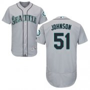 Wholesale Cheap Mariners #51 Randy Johnson Grey Flexbase Authentic Collection Stitched MLB Jersey