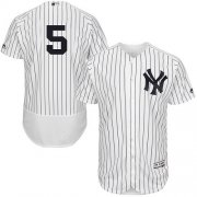 Wholesale Cheap Yankees #5 Joe DiMaggio White Strip Flexbase Authentic Collection Stitched MLB Jersey