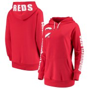 Wholesale Cheap Cincinnati Reds G-III 4Her by Carl Banks Women's 12th Inning Pullover Hoodie Red