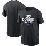 Wholesale Cheap Los Angeles Dodgers Nike Local Nickname T-Shirt Black