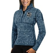 Wholesale Cheap Los Angeles Kings Antigua Women's Fortune 1/2-Zip Pullover Sweater Royal