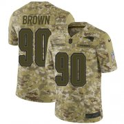 Wholesale Cheap Nike Patriots #90 Malcom Brown Camo Youth Stitched NFL Limited 2018 Salute to Service Jersey