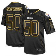 Wholesale Cheap Nike Steelers #50 Ryan Shazier Lights Out Black Men's Stitched NFL Elite Jersey