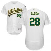 Wholesale Cheap Athletics #28 Matt Olson White Flexbase Authentic Collection Stitched MLB Jersey