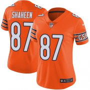 Wholesale Cheap Nike Bears #87 Adam Shaheen Orange Women's Stitched NFL Limited Rush Jersey