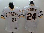 Wholesale Cheap Pirates #24 Barry Bonds White Flexbase Authentic Collection Cooperstown Stitched MLB Jersey
