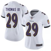 Wholesale Cheap Nike Ravens #29 Earl Thomas III White Women's Stitched NFL Vapor Untouchable Limited Jersey